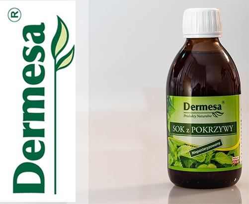 Sok z Pokrzywy - niepasteryzowany 250ml Dermesa