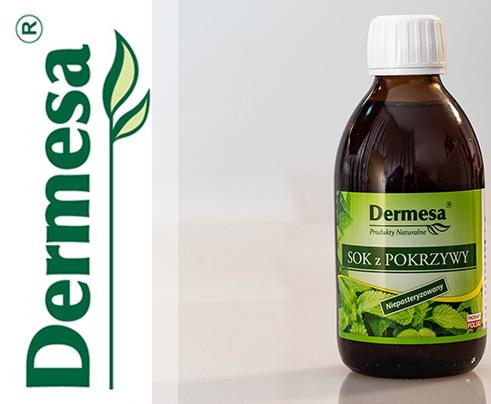 Sok z pokrzywy 250ml Dermesa niepasteryzowany